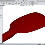 Pyrex spatula Solidworks surfacing soft touch top down design