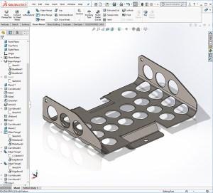 Solidworks sheet metal bracket