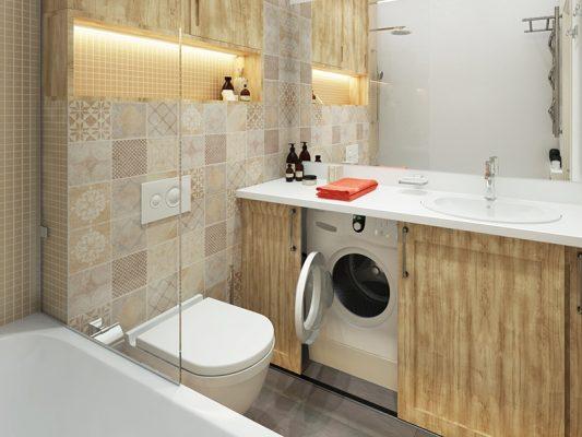 совмещённый санузел с ванной дизайн фото 4 кв м со стиральной машиной 2