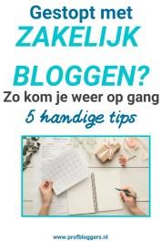 Gestopt met zakelijk bloggen_ Zo kom je weer op gang - 5 tips