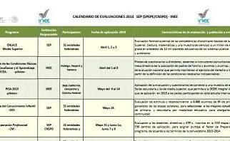 Publica INEE calendario de evaluaciones 2014.