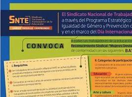 """Convocatoria """"Mujeres Destacadas del SNTE 2014-2015"""""""