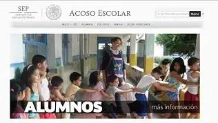 Lanza SEP portal web contra el acoso escolar.