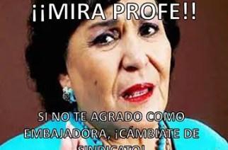 Se pitorrean de Carmen Salinas, la nueva Embajadora del SNTE.