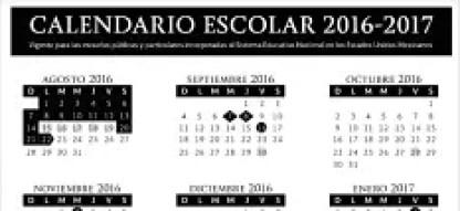 calendario escolar sep 2016-2017
