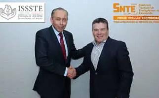 Gestiona SNTE mejores servicios médicos y más créditos del ISSSTE
