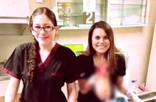Sin pudor alguno, dos residentes del IMSS posan con pie amputado de un paciente