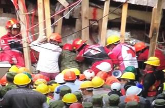#Sismo 32 niños y 5 adultos fallecidos en derrumbe de Colegio Enrique Rébsamen