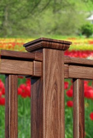 All of the Illusions Vinyl Railing styles, lengths and heights can be finished in any of the WoodBond wood grains.