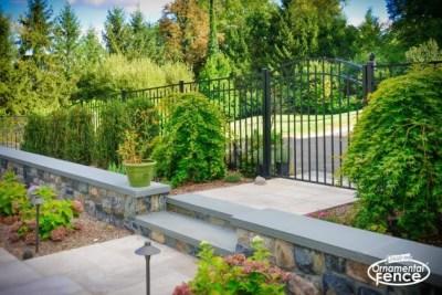 An Eastern Ornamental Aluminum Style EO54200 BOCA Code Compliant Accent gate