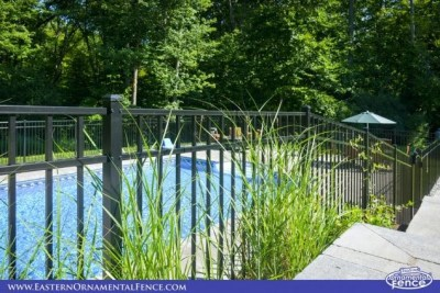 Eastern Ornament Aluminum EO54202 are very 'rackable' allowing the fence to hug the grade!