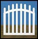 Illusions Vinyl Gate Styles - Contemporary Spaced Picket Fence Gate