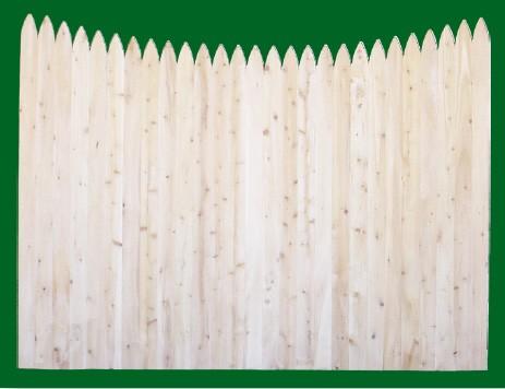 Eastern White Cedar Stockade with a scalloped top