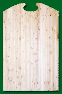 Eastern White Cedar Gate with a shaped top