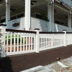 Girailsillusions Vinyl Pvc Mahogany And White Deck Railing Ramp 1 1024x681 Pro Fence Supply