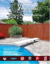 The brand new Illusions Vinyl Fence Brochure