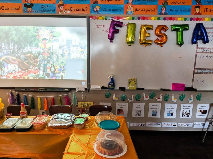 fiesta in heritage Spanish class