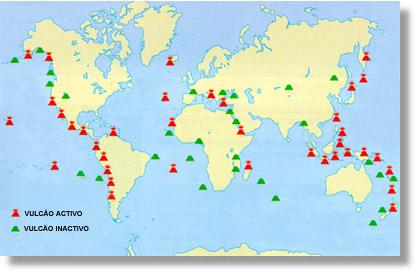 Distribució mundial de volcans.