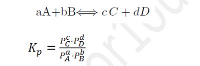 equilibrio químico constante kp presiones