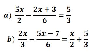 Ecuaciones con denominadores resueltas