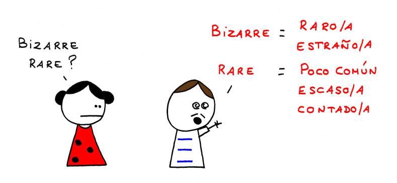 Bizarre rare ? Bizarre = raro/a - estraño/a Rare = poco común - escaso/a - contado/a