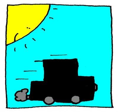 Une mystérieuse voiture noire conduite par les Ninjas.