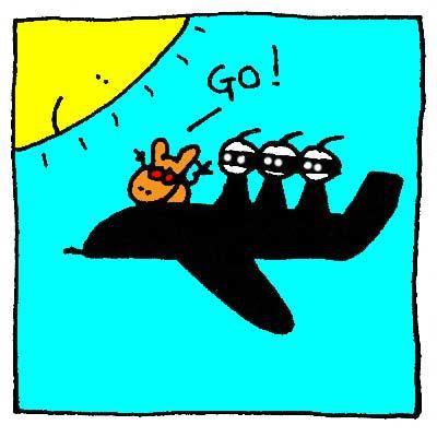 L'avion Ninja !