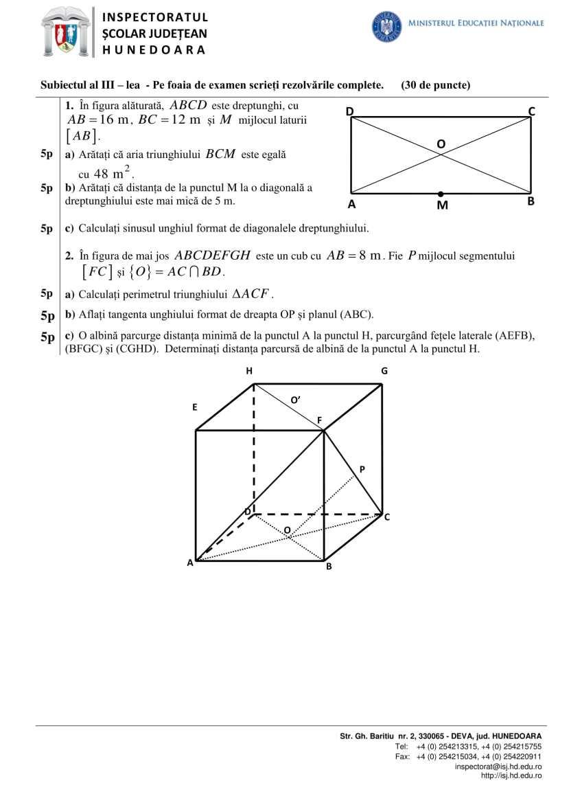 Matematica_subiect si barem_EN_2017-2