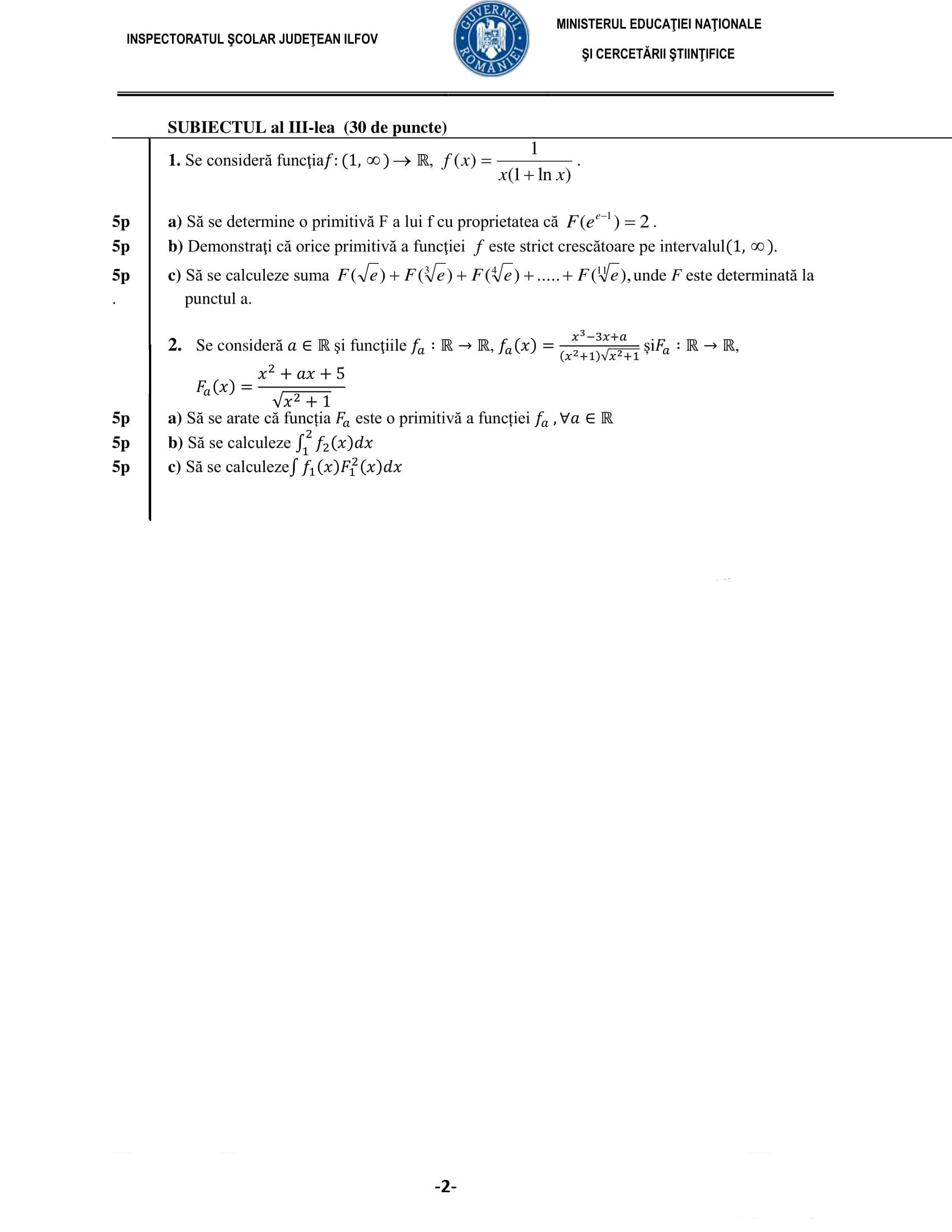 Rezolvari Variante Bac 2009 Matematica M1 Pdf