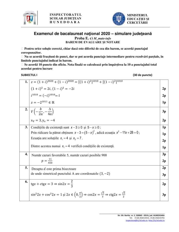 BAREM-Simulare-BAC 2020-matematica-HD-mate-info-bar-1