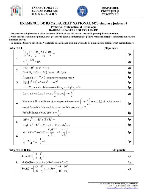 BAREM-Simulare-BAC 2020-matematica-HD-tehnologic-bar-1