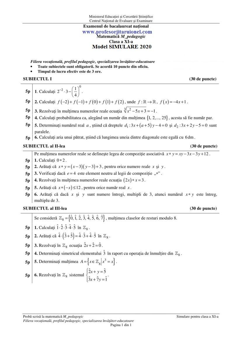 model-simulare-bac-2020-pedagogic-clasa-11-ij