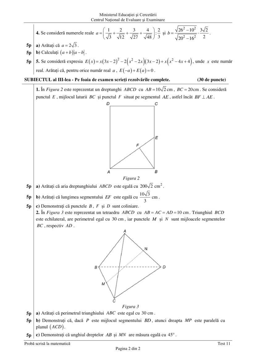 ENVIII_matematica_2020_Test_11-2