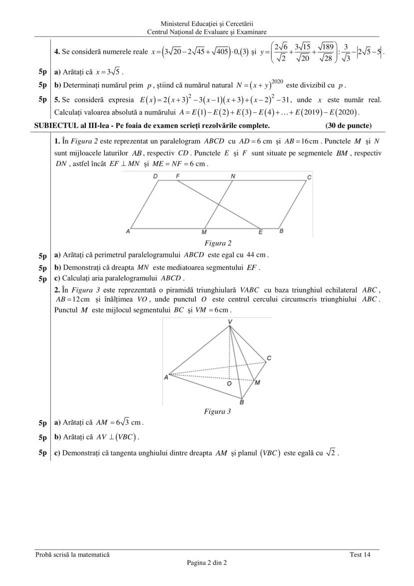 ENVIII_matematica_2020_Test_14-2