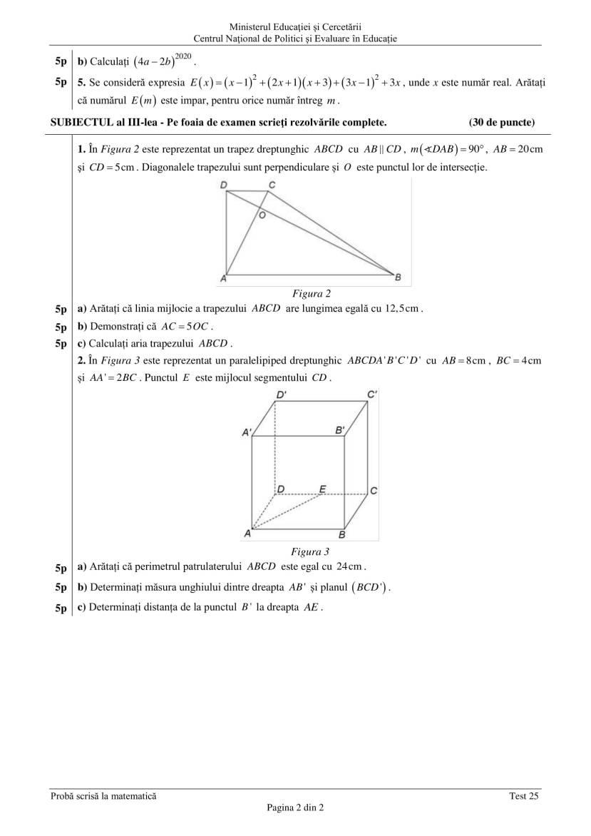 ENVIII_matematica_2020_Test_25-2