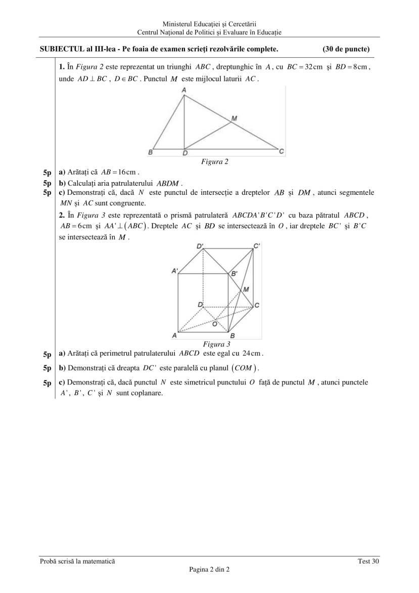 ENVIII_matematica_2020_Test_30-2