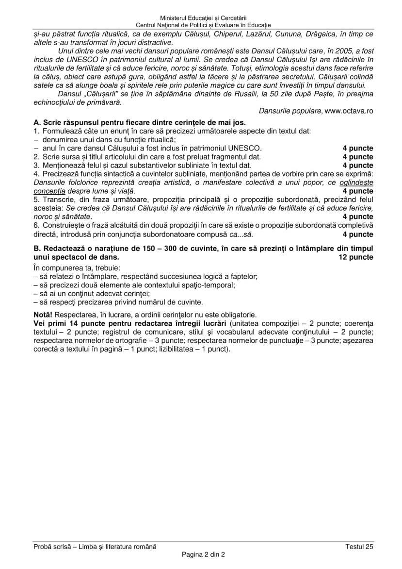 EN_VIII_Limba_romana_2020_Testul_25-2