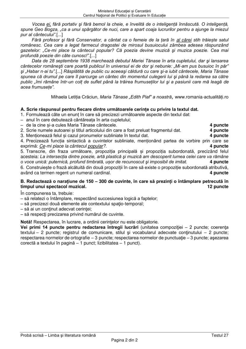 EN_VIII_Limba_romana_2020_Testul_27-2