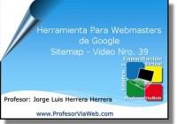 Herramienta Para Webmasters de Google Sitemap