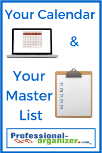 calendar and master list;time management