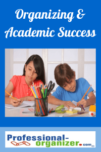 organizing and academic success