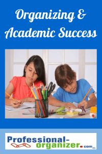 organizing and academic success