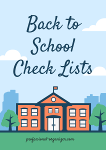 Back to school check lists