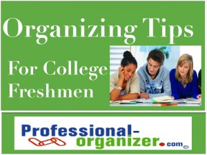 organizing your college freshman