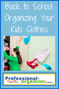 back to school organizing your kids' clothes