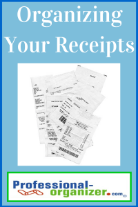 organizing your receipts
