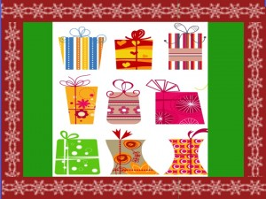 holiday gift list and gift giving