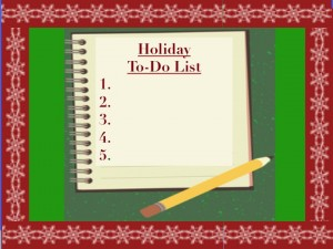 holiday to do list and notebook