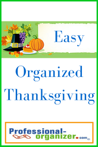 easy Organized Thanksgiving