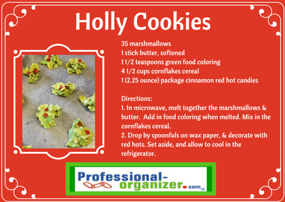 Holly Cookies Archives Ellen S Blog Professional Organizing For